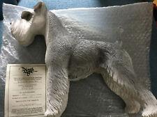 North light Dog bigote Pepper salt ceramic resin Limited