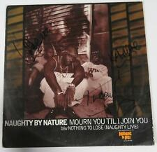 "NAUGHTY BY NATURE Signed Autograph ""Mourn You 'Til I Join You"" Album Vinyl LP"