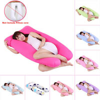 Maternity Pregnancy Body Sleeping Pillow Case Cover Sleep U Shape Cushion Cover