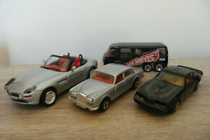 Vintage Matchbox Hotwheels Lot - Rolls Royce,Pontiac Firebird,BMW, GMC Motorhome