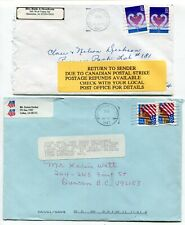 Canada / USA 1997 Postal Strike - Mail Service Suspended - Pair of Covers # 3