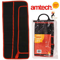 12 Pocket Canvas Tool Roll Wrench Spanner Storage Bag Fold Pouch Amtech N1500