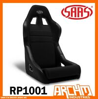 SAAS FIXED BACK SPORTS CAR SEAT BLACK MACH II COMFORT SUPPORT ADR BOLSTERING
