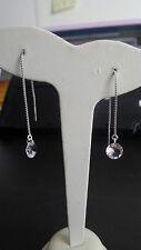 Orecchini Donna pendenti color argento diamante sintetico taglio vivo