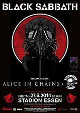 Black Sabbath & Alice in Chains Essen Deutschland 2014 Promo Poster Ozzy Osbourne
