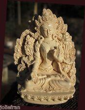 WHITE TARA'S BLESSING BEAUTIFUL DETAIL HAND-CRAFTED USA TIBETAN BUDDHIST STATUE