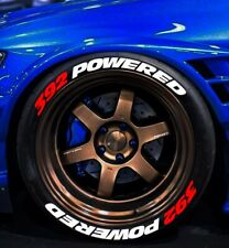 """TIRE LETTERS 1.25""""  392 POWERED 15""""- 22"""""""