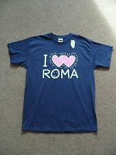 Girls Fruit of the Loom T-shirt Navy Blue Italy Slogan Cotton Age 12-13 years