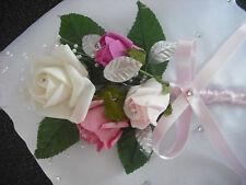 HANDMADE LARGE SATIN WEDDING RING CUSHION IN WHITE
