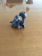 Vintage Pewter Snapping Turtle Little Figurine Statue