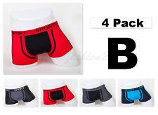 """4pc XS 26-28"""" Stretchable Cotton Mens Boxer Briefs Trunk Short Underwear Plain"""