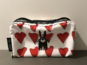 Lesportsac X Peter Jensen Rabbit Rectangle Travel Cosmetic Bag Pouch