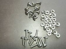 12p 8-32 x 3/8 & 12 pcs 8-32 x 5/8 stainless grille rivet screws nuts for Dodge (Fits: More than one vehicle)