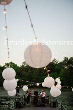 "12X Round White Chinese Paper Lanterns Lamp 6"" Wedding Decoration Beautiful US"