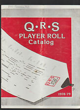 QRS Player Piano Roll Catalog 1978 1979 Great Reference