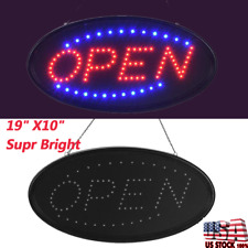 Bright Led Neon Light Animated Motion W. On/Off Store Open Business Sign Board