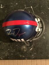 Ron Dayne Signed New York Giants Mini Helmet Nfl Wisconsin Badger Heismen Trophy