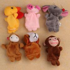 12pcs/ Set Kid Hand Glove Animal Wildlife Puppet Soft Plush Puppets Children