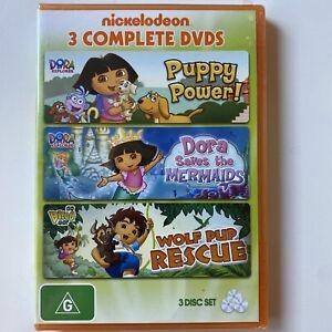 Dora the Explorer- Puppy Power / Saves Mermaids / Wolf Pup Rescue (DVD) R4 NEW