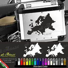 2 Aufkleber Karte EUROPA Motorrad BMW R 1200 800 1150 GS Koffer