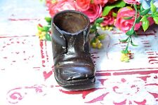 VINTAGE WOODEN SHOES INKWELL - MINI WOODEN SHOES INKWELL - OLD INKWELL