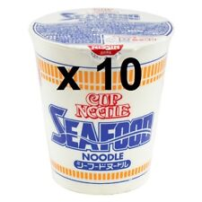 10 x SEAFOOD Japanese Nissin Cup Ramen Noodle - Seafood Flavour Ramen From Japan