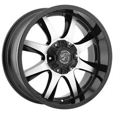 "20"" Inch Panther Offroad 578 20x9 5x5""/5x5.5"" -12mm Black/Machined Wheel Rim"