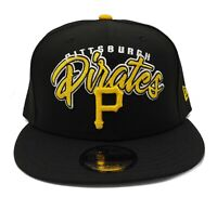 Pittsburgh Pirates New Era 9Fifty Black Retro Script Adjustable Snapback Hat