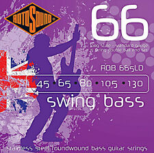 Rotosound Rdb665Ld Headless 5 string Bass Guitar Strings 45-130 Double Ball End