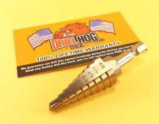 "Drill Hog® 1/4""-3/4"" Step Drill COBALT Hex Shank Impact Driver Lifetime Warranty"