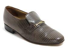 Herrenschuhe Halbschuhe Schuhe Reptil Schnalle Riemen England Vintage 42