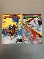Owlhoots 1 & 2 Complete Set Kitchen Sink Comix Comics James Vance John Garcia