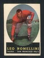 1958 Topps #89 Leo Nomellini VGEX 49ers 71134