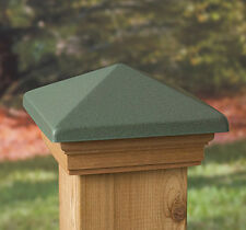 VC5 Post Cap Patina Green Copper High Top Western Red Cedar - suit 90-94mm post