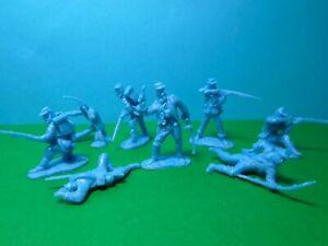 CTS 1/32 scale ACW Union Infantry x8 (light blue)