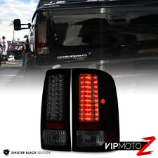 For GMC Sierra 07-13 [SINISTER BLACK SMOKE] Housing LED Tail Light Brake Lamp