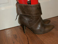 LADIES BROWN ANKLE BOOTS, SIZE UK 5 (38)