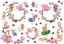 Papier de riz DFS042 Petites fées Fleurs Decoupage Rice Paper Fairies serviette