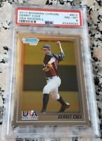 GERRIT COLE 2010 Bowman Chrome #1 Draft Pick Rookie Card RC PSA 8 NY Yankees $$