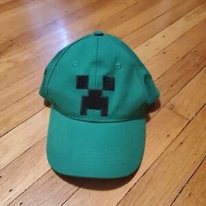 Youth Jinx Hat Minecraft Embroidered Creeper Green Baseball Cap Snapback