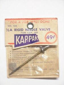 Kap Pak Cox .049 1/2A  Rigid  Needle Valve  Model Airplane Engine