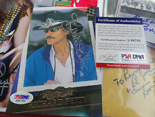 RICHARD PETTY Signed PSA/DNA COA 5x7 SILVER INK Autograph auto #43 THE KING