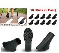 10 x Aspahltpads Pads für Nordic Walking Ersatzfüße Trekking Stöcke Gummipuffer