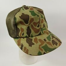 Vintage 80s Camouflage Trucker Hat Old School Camouflage by Young An