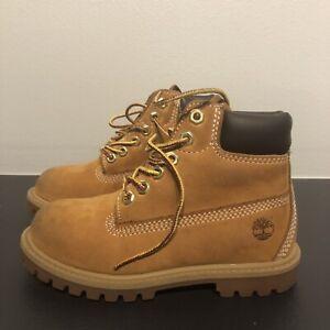 "Timberland 6"" Premium Toddler Wheat Waterproof Td Boots Shoes Sz 11M 12809 EUC"