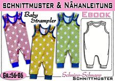 Baby Strampler pdf.Schnittmuster und Nähanleitung  Gr.:56-86