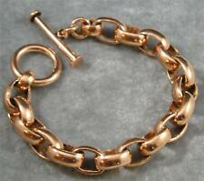 """Shiny Solid Copper Chain Large Link Bracelet 5 3/4"""" long 10mm wide Chunky Health"""