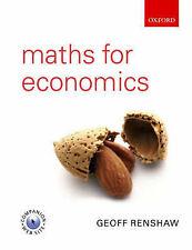 Maths for Economics by Norman Ireland, Geoff Renshaw (Paperback, 2005)