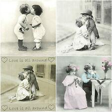 Papel 4x Servilletas-Sagen Forever Love-Para Fiesta, Decoupage Vintage Mix
