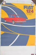 FIAT 124 SPORT AFFICHE ORIGINALE ROUGEMONT